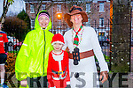 l-r  Pauline Walsh, Zac Walsh and Teresa Grimes at the Christmas Park Run on Saturday