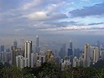View from Victoria Peak at  Hongkongs Central District.
