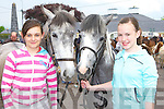Aoife Johnston Killorglin left and Jade Moriarty Carragh Lake with their horse's Breeze and Gypsy at the horse fair in Killorglin on Saturday    Copyright Kerry's Eye 2008