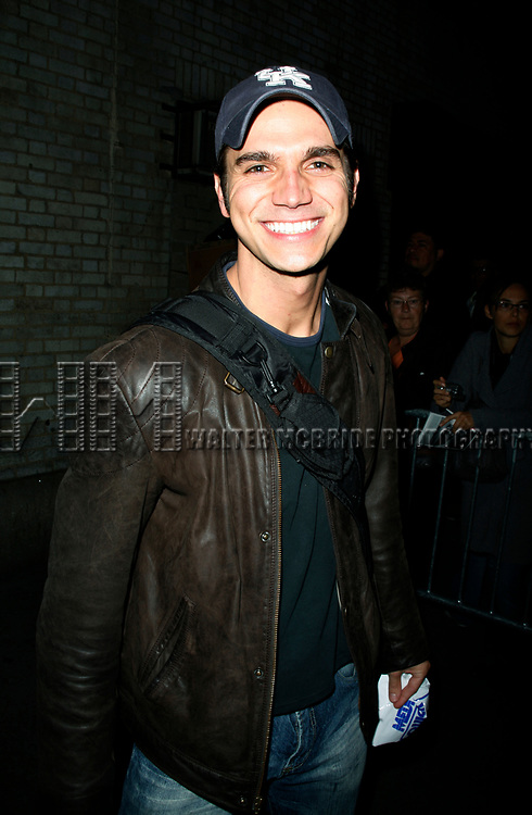 Derek Keeling attends Olivia Newton-John is headed back to Rydell High to promote Breast Cancer Awareness after the Curtain Call for GREASE at the Brooks Atkinsoon Yheatre in New York City. <br />October 7, 2008