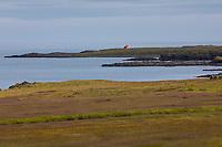 Fáskrúðsfjörður, Faskrudsfjördur, im Osten von Island mit Leuchtturm Hafnarnes am Südufer