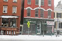 JERSEY CITY,NJ, 14.03.2017 - NEVASCA-ESTADOS UNIDOS - Vista de ruas da cidade de Jersey City afetada pela nevasca Stella considerada uma das maiores tempestades neve dos últimos anos provocando cancelamento de quase 7.000 voos segundo a CNN nesta terça-feira, 14. (Foto: William Volcov/Brazil Photo Press)