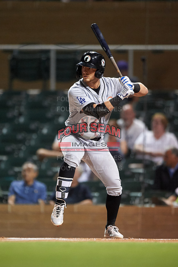 Glendale Desert Dogs Michael Busch (47), of the Los Angeles Dodgers organization, at bat during an Arizona Fall League game against the Salt River Rafters on October 23, 2019 at Salt River Fields at Talking Stick in Scottsdale, Arizona. Glendale defeated Salt River 6-5. (Zachary Lucy/Four Seam Images)