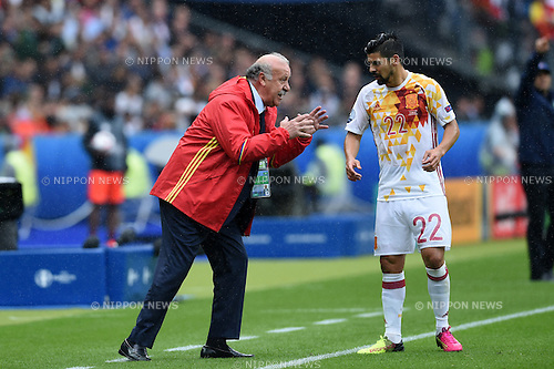 Nolito Manuel Agudo Duran (Spain) Vicente del Bosque Gonzalez Coach (Spain) ; <br /> June 27, 2016 - Football : Uefa Euro France 2016, Round of 16; Italy 2-0 Spain at Stade de France; Saint-Denis, France. (Photo by aicfoto/AFLO)