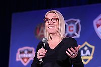 Philadelphia, PA - Thursday January 18, 2018: MLS Vice President of Fan Engagement Amanda Vandervort. The 2018 MLS League Meetings were held at the Philadelphia Marriott Downtown.