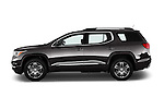 Car Driver side profile view of a 2017 GMC Acadia Denali 5 Door SUV Side View