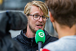 AMSTELVEEN - Amsterdam coach Thomas Immink. finale Kampong MB1-Amsterdam MB1. AMSTERDAM MB1 wint de titel Meisjes B. finales A en B jeugd  Nederlands Kampioenschap.  COPYRIGHT KOEN SUYK