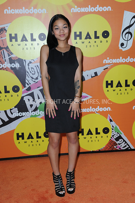 WWW.ACEPIXS.COM<br /> November 14, 2015 New York City<br /> <br /> Tyla Wolfe attending the 2015 Nickelodeon HALO Awards at Pier 36 on November 14, 2015 in New York City.<br /> <br /> Credit: Kristin Callahan/ACE<br /> Tel: (646) 769 0430<br /> e-mail: info@acepixs.com<br /> web: http://www.acepixs.com