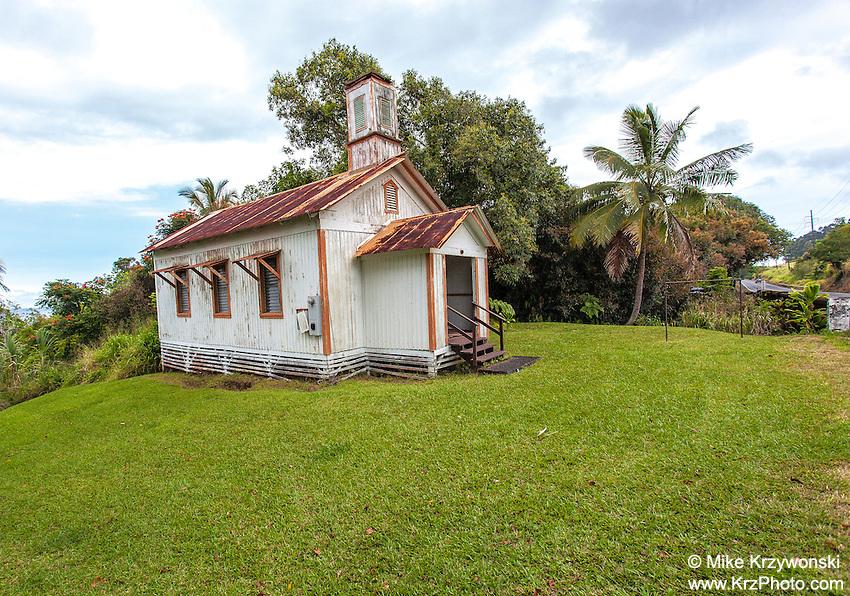 Historic Pohakupuka Congregational Church, Papaikou, Big Island, Hawaii