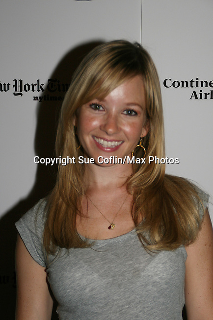 "Justis Bolding - OLTL ""Sarah Buchanan"" attends the 22nd Annual Broadway Flea Market and Grand Auction to benefit Broadway Cares / Equity Fights Aids on Sunday 21, 2008 in Shubert Alley, New York City, NY. (Photo by Sue Coflin/Max Photos)"