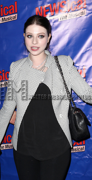 Michelle Trachtenberg attending the Opening Night Performance of Perez Hilton in 'NEWSical The Musical' at the Kirk Theatre  in New York City on September 17, 2012.
