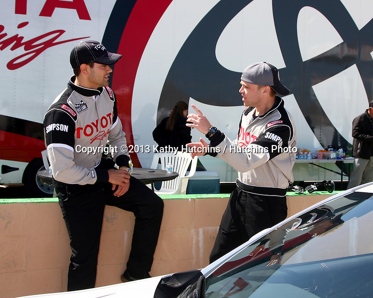 LOS ANGELES - MAR 23:  Jesse Metcalfe, Brett Davern at the 37th Annual Toyota Pro/Celebrity Race training at the Willow Springs International Speedway on March 23, 2013 in Rosamond, CA          EXCLUSIVE PHOTO