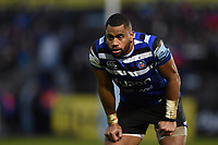 Joe Cokanasiga of Bath Rugby looks on during a break in play. Gallagher Premiership match, between Bath Rugby and Sale Sharks on December 2, 2018 at the Recreation Ground in Bath, England. Photo by: Patrick Khachfe / Onside Images