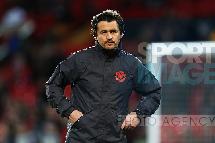 Manchester United assistant coach Rui Faria during the UEFA Europa League Round of 32 1st leg match at Old Trafford Stadium, Manchester. Picture date: February 16th, 2017. Pic credit should read: Matt McNulty/Sportimage