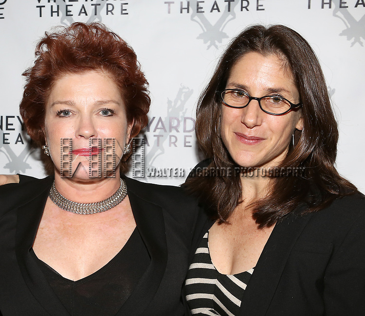 Kate Mulgrew, Anne Kaufman attending the Opening Night After Party for the Vineyard Theatre Production of 'Somewhere Fun' at the Vineyard Theatre in New York City on June 04, 2013.