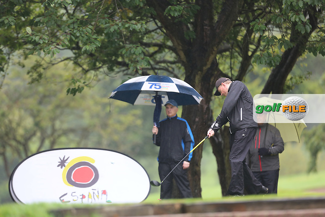 Junior Stewart (Mahee Island) during the Ulster Mixed Foursomes Final, Shandon Park Golf Club, Belfast. 19/08/2016<br /> <br /> Picture Jenny Matthews / Golffile.ie<br /> <br /> All photo usage must carry mandatory copyright credit (© Golffile | Jenny Matthews)