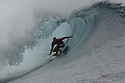 Kelly Slater (USA) in Teahupoo in Tahiti.