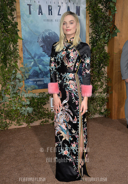 LOS ANGELES, CA. June 27, 2016: Actress Margot Robbie at the world premiere of &quot;The Legend of Tarzan&quot; at the Dolby Theatre, Hollywood.<br /> Picture: Paul Smith / Featureflash