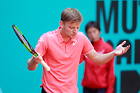 David Goffin, Belgium, during Madrid Open Tennis 2018 match. May 10, 2018.(ALTERPHOTOS/Acero) /NORTEPHOTOMEXICO