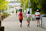 Joggers on the Eastbank Esplanade, Portland, Oregon