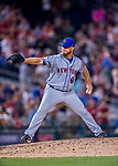 28 April 2017: New York Mets pitcher Josh Edgin on the mound in the 9th inning against the Washington Nationals at Nationals Park in Washington, DC. The Mets defeated the Nationals 7-5 to take the first game of their 3-game weekend series. Mandatory Credit: Ed Wolfstein Photo *** RAW (NEF) Image File Available ***