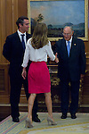 21.09.2012. Princess Letizia of Spain attends  in audience to a representation of the Association for Persons with Intellectual Disabilities of Galicia (ASPRONAGA) in the Zarzuela Palace, Madrid. In the image Princess Letizia of Spain  (Alterphotos/Marta Gonzalez)