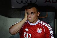 Fussball  International   Audi Cup 2013  Saison 2013/2014   31.07.2013 FC Bayern Muenchen - Sao Paulo FC  Xherdan Shaqiri (FC Bayern Muenchen) nachdenklich