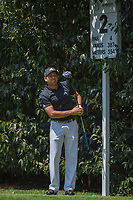 Sergio Garcia (ESP) watches his tee shot on 2 during round 3 of the World Golf Championships, Mexico, Club De Golf Chapultepec, Mexico City, Mexico. 3/3/2018.<br /> Picture: Golffile | Ken Murray<br /> <br /> <br /> All photo usage must carry mandatory copyright credit (&copy; Golffile | Ken Murray)