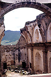 Ruined church, Antigua, Guatemala, Central America,