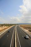 Israel, Carmel coast, the Tel Aviv-Haifa Highway near Atlit .