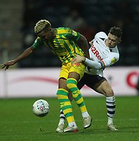 Preston North End's Alan Browne vies for possession with  West Bromwich Albion's Grady Diangana<br /> <br /> Photographer Mick Walker/CameraSport<br /> <br /> The EFL Sky Bet Championship - Preston North End v West Bromwich Albion - Monday 2nd December 2019 - Deepdale Stadium - Preston<br /> <br /> World Copyright © 2019 CameraSport. All rights reserved. 43 Linden Ave. Countesthorpe. Leicester. England. LE8 5PG - Tel: +44 (0) 116 277 4147 - admin@camerasport.com - www.camerasport.com