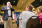 """July 10, 2010 - PHOENIX, AZ: US Senator JOHN MCCAIN (R-AZ) speaks at a town hall meeting in Phoenix. Sen. McCain held a """"town hall"""" meeting at a hotel in Phoenix Saturday morning. He criticized the Obama administration's handling of the war in Afghanistan, specifically the July 2011 date for the beginning of the withdrawl of US forces, the administration's handling of the immigration and border security issue and the recently passed health care reform bill, which he called """"Obamacare."""" McCain is in a primary battle with former Congressman JD Hayworth, he did not mention Hayworth, by name during the meeting.   Photo by Jack Kurtz"""