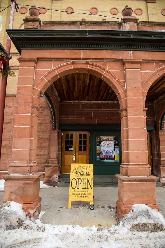 The Calumet Theatre in downtown Calumet, Michigan on the Keweenaw Peninsula.