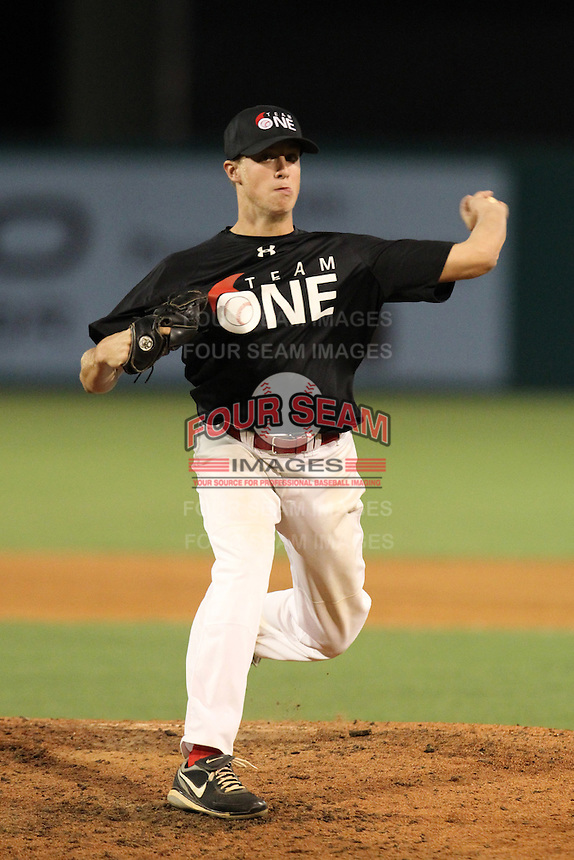 Kirby Snead during the Team One Futures Showcase East at Roger Dean Stadium on October 1, 2011 in Jupiter, Florida.  (Mike Janes/Four Seam Images)
