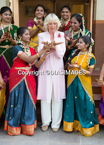 CAMILLA, DUCHESS OF CORNWALL<br /> visits the Asha Sadan Residential Home, Mumbai, India_09/11/2013.<br /> The couple are on a 9-day tour of India<br /> Mandatory Credit Photo: &copy;Rook/DIASIMAGES<br /> <br /> **ALL FEES PAYABLE TO: &quot;NEWSPIX INTERNATIONAL&quot;**<br /> <br /> IMMEDIATE CONFIRMATION OF USAGE REQUIRED:<br /> Newspix International, 31 Chinnery Hill, Bishop's Stortford, ENGLAND CM23 3PS<br /> Tel:+441279 324672  ; Fax: +441279656877<br /> Mobile:  07775681153<br /> e-mail: info@newspixinternational.co.uk