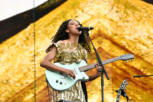 LONDON, ENGLAND - JULY 6: Corinne Bailey Rae performing at British Summertime, Hyde Park on July 6, 2019 in London, England.<br /> CAP/MAR<br /> ©MAR/Capital Pictures