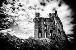 Castle ruins with dramatic sky