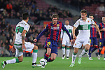 08.01.2014 Barcelona, Spain. Spanish Cup. Picture show Sergi Roberto in action during game between FC Barcelona against Elche at Camp Nou