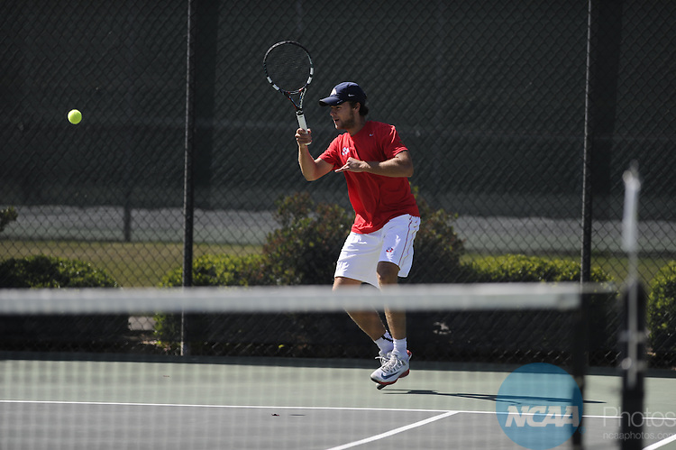 24 APR 2014:  The University of Nevada takes on Fresno State University during the 2014 Mountain West Conference Men's Tennis Championship held at the Sierra Racquet and Sports Club in Fresno, CA.  Justin Tafoya/NCAA Photos