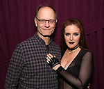 "David Hyde Pierce and Jennifer Simard backstage after ""Stigma"" on September 9, 2018 at the Green Room 42 in New York City."