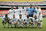 11 September 2004: Dallas's starting lineup. Front row (l to r): Toni Nhleko, Ronnie O'Brien, Eric Quill, Chris Gbandi, Oscar Pareja. Back row (l to r): Simo Valakari, Eddie Johnson, Cory Gibbs, Jeff Cassar, Steve Jolley, Carey Talley. DC United defeated the Dallas Burn 3-0 at RFK Stadium in Washington, DC during a regular season Major League Soccer game..