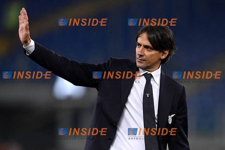 Simone Inzaghi of Lazio greets supporters at the end of the Serie A 2018/2019 football match between Lazio and Empoli at stadio Olimpico, Roma, February 7, 2019 <br />  Foto Andrea Staccioli / Insidefoto
