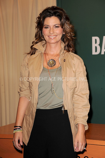 WWW.ACEPIXS.COM . . . . . .May 4, 2011...New York City...Singer Shania Twain signs copies of her book 'From This Moment On' at Barnes & Noble, 5th Avenue on May 5, 2011 in New York City....Please byline: KRISTIN CALLAHAN - ACEPIXS.COM.. . . . . . ..Ace Pictures, Inc: ..tel: (212) 243 8787 or (646) 769 0430..e-mail: info@acepixs.com..web: http://www.acepixs.com .