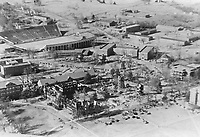 Old Main aerial after fire (© Mississippi State University)