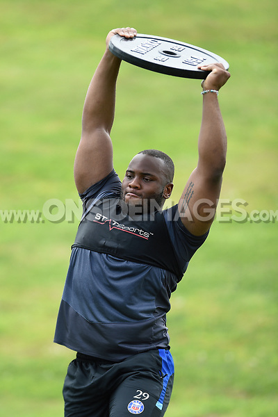 Beno Obano of Bath Rugby in action. Bath Rugby pre-season skills training on June 22, 2017 at Farleigh House in Bath, England. Photo by: Patrick Khachfe / Onside Images