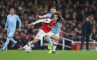 Arsenal's Matteo Guendouzi and Leeds United's Stuart Dallas<br /> <br /> Photographer Rob Newell/CameraSport<br /> <br /> Emirates FA Cup Third Round - Arsenal v Leeds United - Monday 6th January 2020 - The Emirates Stadium - London<br />  <br /> World Copyright © 2020 CameraSport. All rights reserved. 43 Linden Ave. Countesthorpe. Leicester. England. LE8 5PG - Tel: +44 (0) 116 277 4147 - admin@camerasport.com - www.camerasport.com