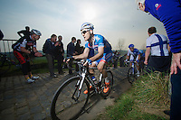 Tim De Troyer (BEL/Wanty-GroupeGobert) up the Paterberg (max 20%)<br /> <br /> 57th E3 Harelbeke 2014