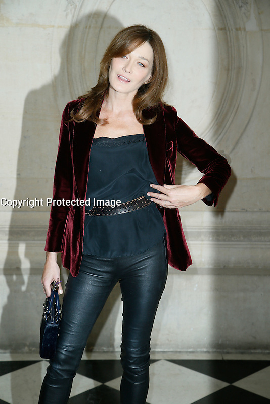 Paris, France September 27 : Carla Bruni-Sarkozy attends the Christian Dior Ready To Wear Spring/Summer 2017 show as part of Paris Fashion Week on September 27; 2016 in Paris, France. # FASHION WEEK - PEOPLE AU DEFILE DIOR.