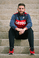 Angel Rangel who has been playing for Swansea City FC for ten years, pictured at the club's Fairwood training ground, Swansea, UK Tuesday 10 October 2017