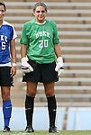 28 August 2009: Duke's Emily Nahas. The Duke University Blue Devils lost 1-0 to the University of North Carolina Greensboro Spartans at Fetzer Field in Chapel Hill, North Carolina in an NCAA Division I Women's college soccer game.